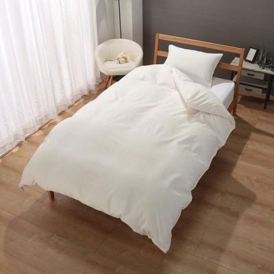 セブンプレミアムライフスタイル オーガニックコットン サテンジャガード織 掛ふとんカバー セミダブル ホワイト