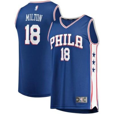 ユニセックス スポーツリーグ バスケットボール Shake Milton Philadelphia 76ers Fanatics Branded Fast Break Replica Jersey - Icon E