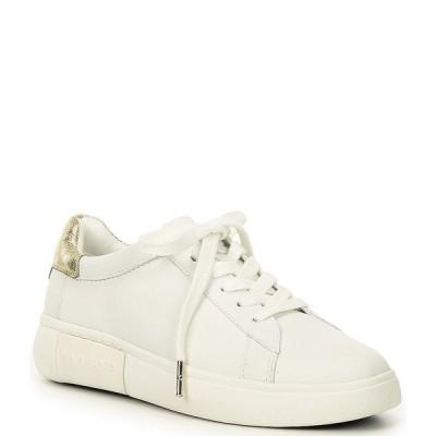 ケイト スペード レディース スニーカー シューズ Lift Leather Gold Heel Detail Sneakers Optic White/Pale Gold