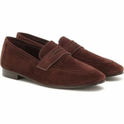 Bougeotte レディース ローファー・オックスフォード シューズ・靴 flaneur suede loafers Coffee Brown