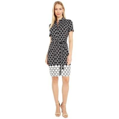 マックススタジオ レディース ワンピース トップス Short Sleeve Collared Dress