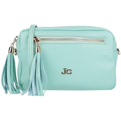 J&C JACKYCELINE ハンドバッグ ライトグリーン 革 ハンドバッグ