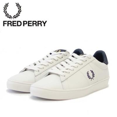 FRED PERRY フレッドペリー  B 8250 254(ユニセックス)SPENCER LEATHER (スペンサー レザー) カラー:Porcelain 天然皮革のローカットスニーカー