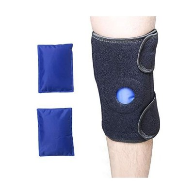 Knee Ice Pack Wrap ? ZXU Knee BraceReusable Hot & Cold Therapy Gel Pack ? A