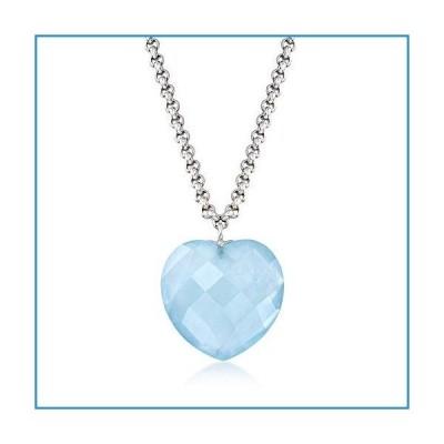 新品Ross-Simons 20.00 Carat Milky Aquamarine Heart Necklace in Sterling Silver. 18 inches【並行輸入品】