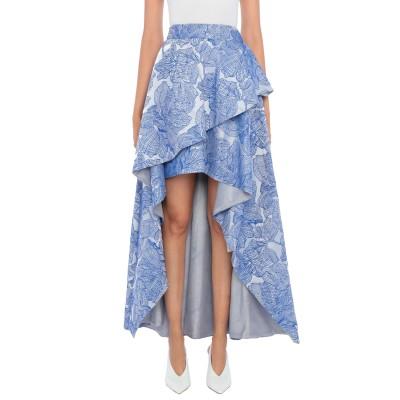 LANACAPRINA ロングスカート ブルー 42 ポリエステル 100% ロングスカート