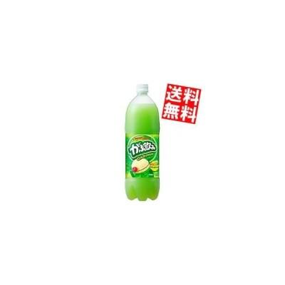 送料無料 ポッカサッポロ がぶ飲み メロンクリームソーダ 1.5Lペットボトル 8本入 (炭酸)