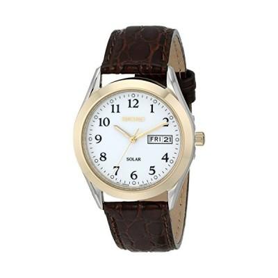 腕時計 セイコー メンズ SNE056 Seiko Men's SNE056 Stainless Steel Solar Watch with Leather Band