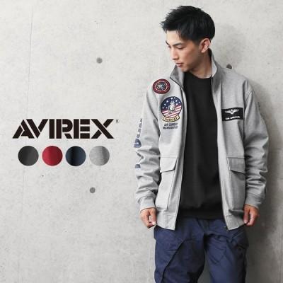 AVIREX アビレックス 6103517 TOP GUN ウインドガードジャケット メンズ スウェット スタンドジップ トップガン ミリタリー ブランド【クーポン対象外】