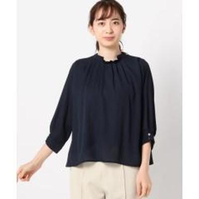 MEW'S REFINED CLOTHESタックスタンドネックブラウス【お取り寄せ商品】