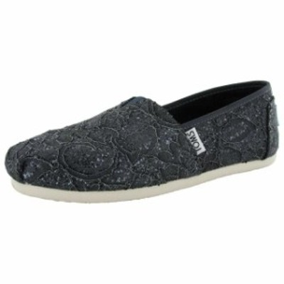 On オン シューズ シューズ/サンダル Toms Womens Lace Glitz Slip On Alpargata Flat Shoe