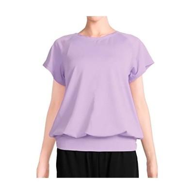 [プラネットシー] Tシャツ ヨガウェア フィットネス レディース トップス Planet-C pc-232 M ラベンダー
