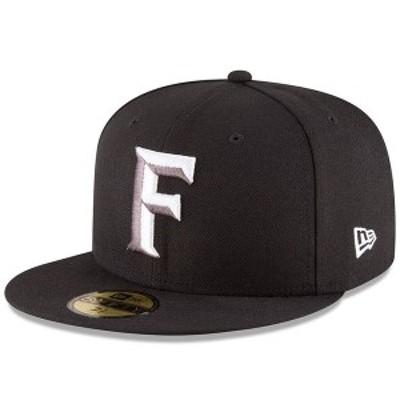 ニューエラ メンズ 帽子 アクセサリー Florida Fire Frogs New Era Alternate 3 Authentic Collection On-Field 59FIFTY Fitted Hat Blac