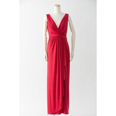 アウトレットロングドレス 大人 大きいサイズ カラードレス 演奏会 パーティー 海外ウエディング ハワイ 赤 謝恩会 結婚式 :8146 レッド