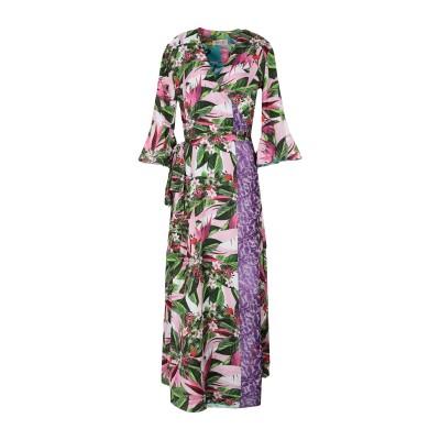 BLACK CORAL ロングワンピース&ドレス パープル 38 ポリエステル 100% ロングワンピース&ドレス