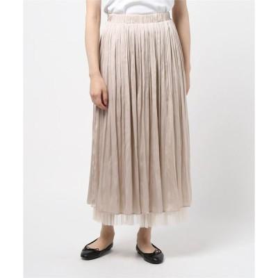 スカート サテン×チュール リバーシブルスカート