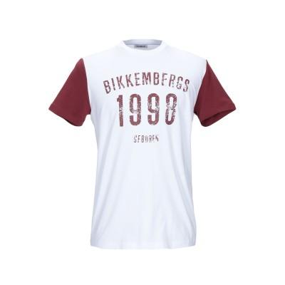 ビッケンバーグ BIKKEMBERGS T シャツ ホワイト 3XL コットン 95% / ポリウレタン 5% T シャツ