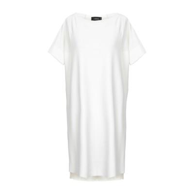 CIVIDINI ミニワンピース&ドレス ホワイト 40 コットン 100% ミニワンピース&ドレス