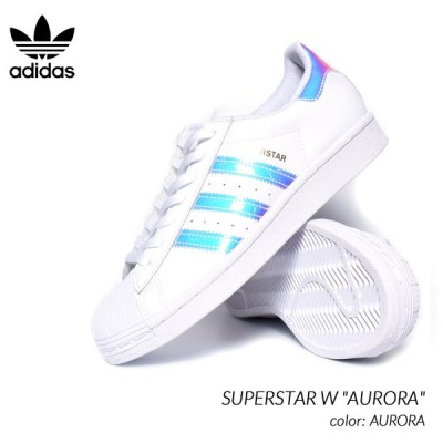 "adidas SUPERSTAR W ""AURORA"" アディダス スーパースター スニーカー ( 白 オーロラ ホワイト レディース ウィメンズ メンズサイズ FX7565 )"