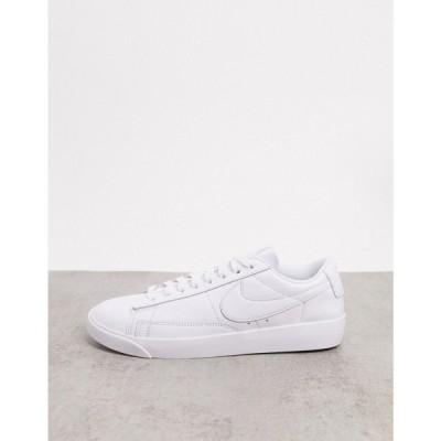 ナイキ Nike レディース スニーカー シューズ・靴 Blazer Low in white ホワイト