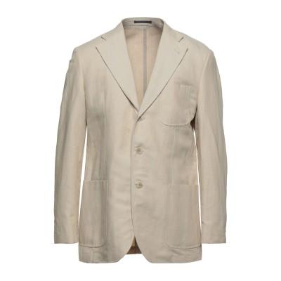 LUBIAM テーラードジャケット ベージュ 52 コットン 50% / リネン 50% テーラードジャケット