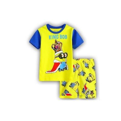 男の子 女の子 キッズ ディズニー 子供 こども プリント パジャマ 半袖&短パン(ミニオン)90cm〜130cm 綿100%
