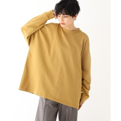 OPAQUE.CLIP(オペークドットクリップ) オーガニックコットン 硫化加工オーバーサイズTシャツ【UNISEX】