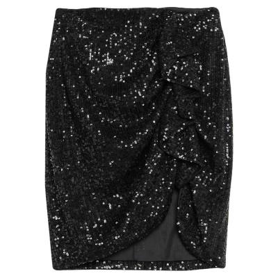 VICOLO ひざ丈スカート ブラック M ポリエステル 97% / ポリウレタン 3% ひざ丈スカート