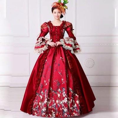 貴族 衣装 サイズ指定可能 王族服 カラードレス 締め上げ ジュリエット現代劇演出 ヨーロッパ風 結婚式 演出服 パーティードレス パニエ追加可 da199zezeh2