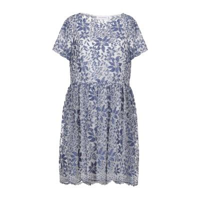 ANNA RACHELE JEANS COLLECTION ミニワンピース&ドレス ブルーグレー 42 ポリエステル 52% / ナイロン 35%