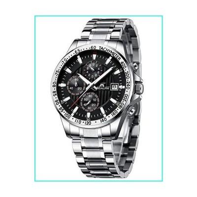 【新品】MEGALITH メンズ 腕時計 ステンレススチール 防水 アナログ クォーツ ファッション ビジネス クロ