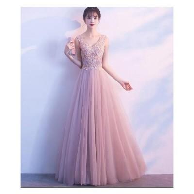 高級感 ウェディングドレス イブニングドレス お呼ばれ ロングドレス パーティードレス レディース 結婚式 謝恩会 披露宴 韓国風 二次会 ロング丈ワンピース