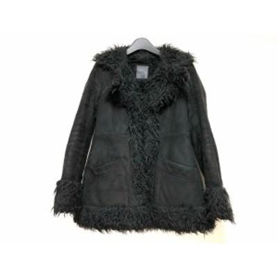 マウジー moussy コート サイズ2 M レディース 黒 冬物【中古】