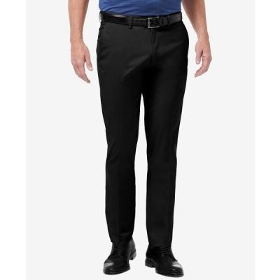 ハガール カジュアルパンツ ボトムス メンズ Men's Premium No Iron Khaki Slim-Fit Flat Front Pants Black