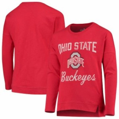 Outerstuff アウタースタッフ スポーツ用品  Ohio State Buckeyes Girls Youth Scarlet Team Captain Long Sleeve Slub T-