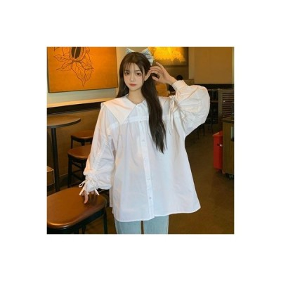 【送料無料】女性 ワイシャツ デザイン 感 小 秋 フレンチ タイプ レトロ 西洋 | 364331_A63652-7073444