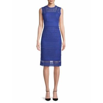 レディース ワンピース Embroidered Lace Sheath Dress
