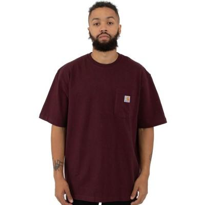 CARHARTT(カーハート)US企画 Tシャツ 半袖 Workwear Pocket T-Shirt Port ポケット付き 無地 スケボー SKATE SK8 スケートボード(K87)ワークブランド