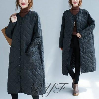 ダウンコート レディース 秋冬アウター 40代 ダウンジャケット 中綿 ロングコート 大きいサイズ 防寒 30代 50代 暖かい おしゃれ 可愛い 体型カバー