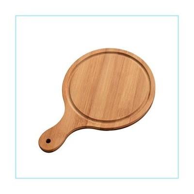新品WAYERTY Round Bamboo Pizza Tray with Handle Homemade Pizza Bread Pan Multi-Size Baking Dish Cutting Board Kitchen Accessory Sustainabl