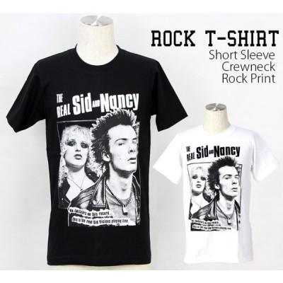 ロックtシャツ バンドtシャツ パンク SEX PISTOLS シド&ナンシー Mサイズ Lサイズ 黒色 白色