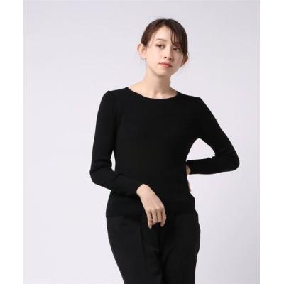GRACE CONTINENTAL / リブクルーネックニットトップ WOMEN トップス > ニット/セーター