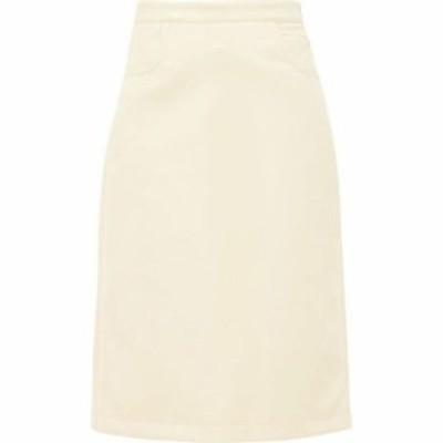 フランソワーズ Francoise レディース ひざ丈スカート スカート Patch-pocket vinyl midi skirt Yellow