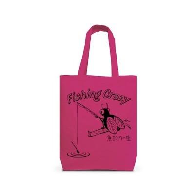 釣りキチ -魚釣りの虫- トートバッグM(ホットピンク)