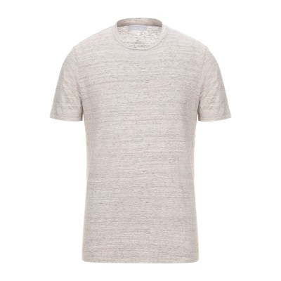 FILIPPO DE LAURENTIIS T シャツ ドーブグレー 50 リネン 100% T シャツ