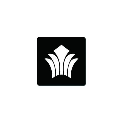 家紋シール 菖蒲革紋 24cm x 24cm KS24-1906W 白紋