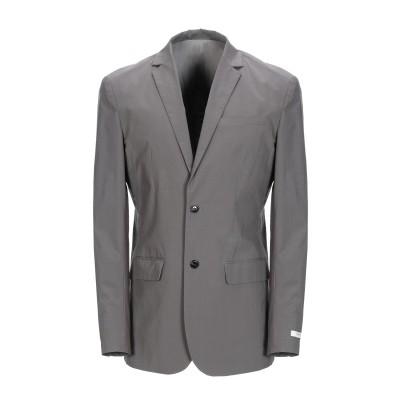 JACK & JONES PREMIUM テーラードジャケット グレー L コットン 97% / ポリウレタン 3% テーラードジャケット