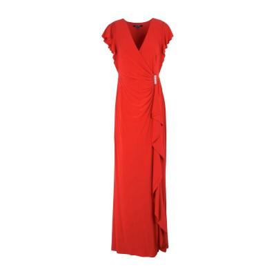 LAUREN RALPH LAUREN ロングワンピース&ドレス レッド 6 ポリエステル 95% / ポリウレタン 5% ロングワンピース&ドレス