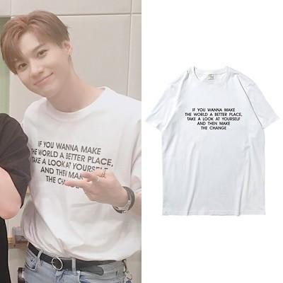 603大人気!SHINee 週辺Taemin同じデザイン半袖Tシャツ韓国ファッション tシャツ 男女兼用 トップス 韓国