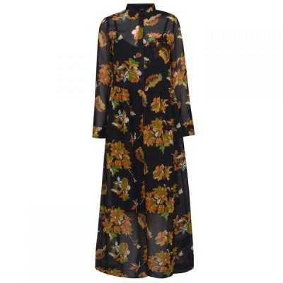 セット SET レディース パーティードレス ワンピース・ドレス Floral Dress BlackYellow
